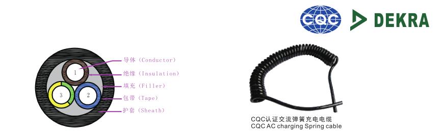 CQC、DEKRA认证交流充电电缆结构图